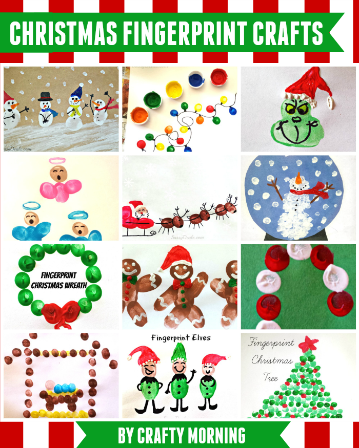 christmas fingerprint crafts u create christmas fingerprint crafts u create
