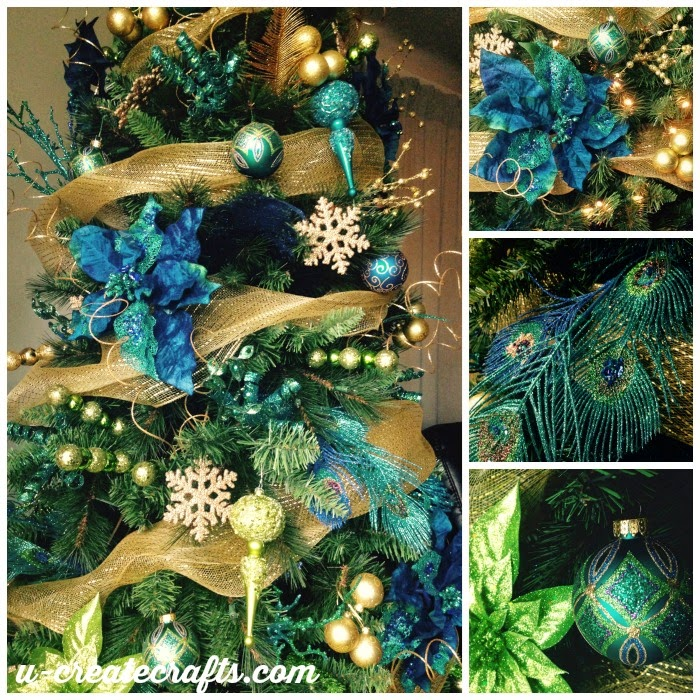 DIY Peacock Christmas Tree