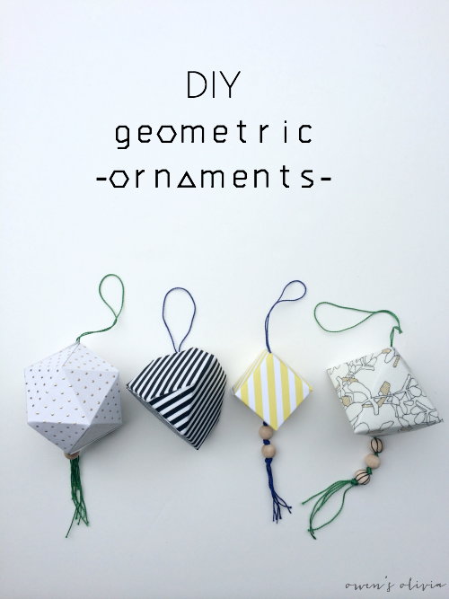 DIY Geometric Christmas Ornaments by Owens Olivia