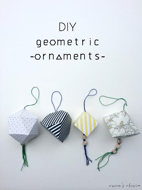 DIY Geometric Christmas Ornaments by Owens Olivia