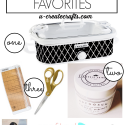 Friday Favorites - chalk paint powder, new crockpot, gold craft supplies, and a beautiful blog!