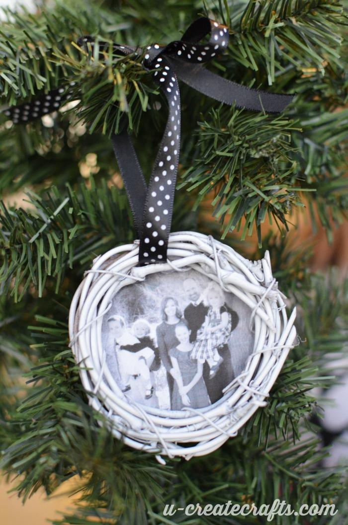Grapevine Photo Ornament Tutorial by U Create