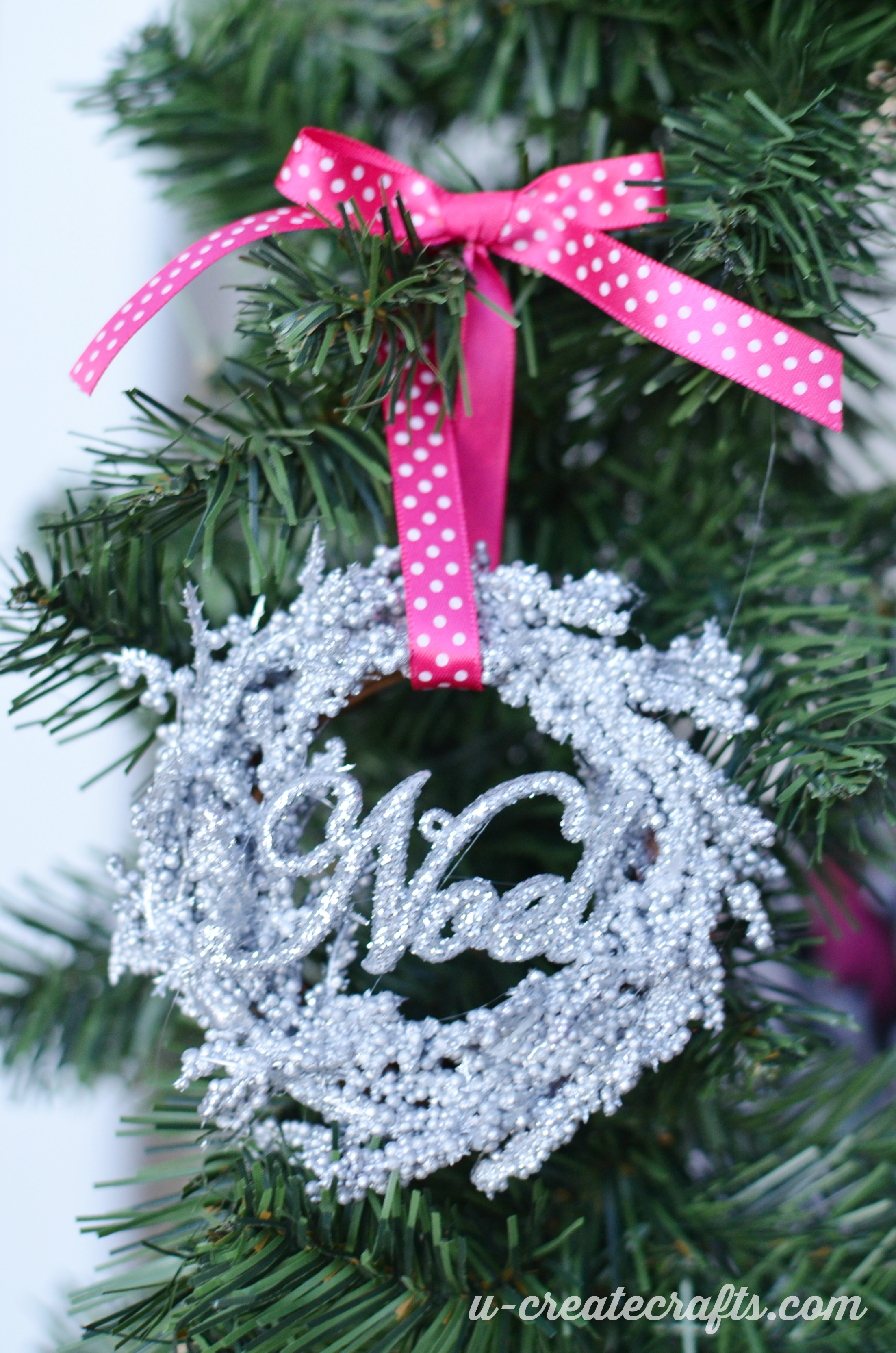 Mini Wreath Christmas Ornaments - U Create