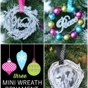 Mini Wreath Ornament Tutorials by U Create