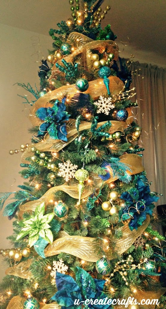 Michaels dream tree challenge peacock christmas