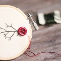 Stitched Tree Ornament by The Crafting Chicks