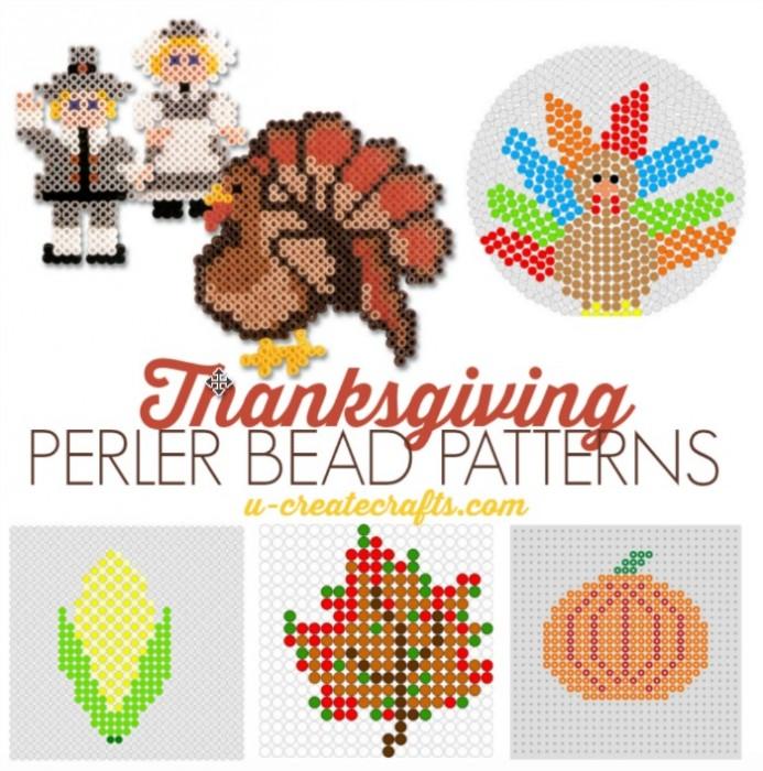 Free Thanksgiving Perler Bead Patterns at U Create