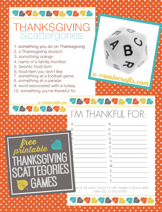 Thanksgiving Scattegories Printables - u-createcrafts.com