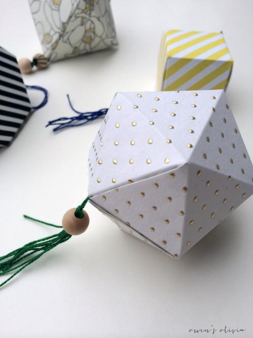 DIY Geometic Ornaments by owens olivia