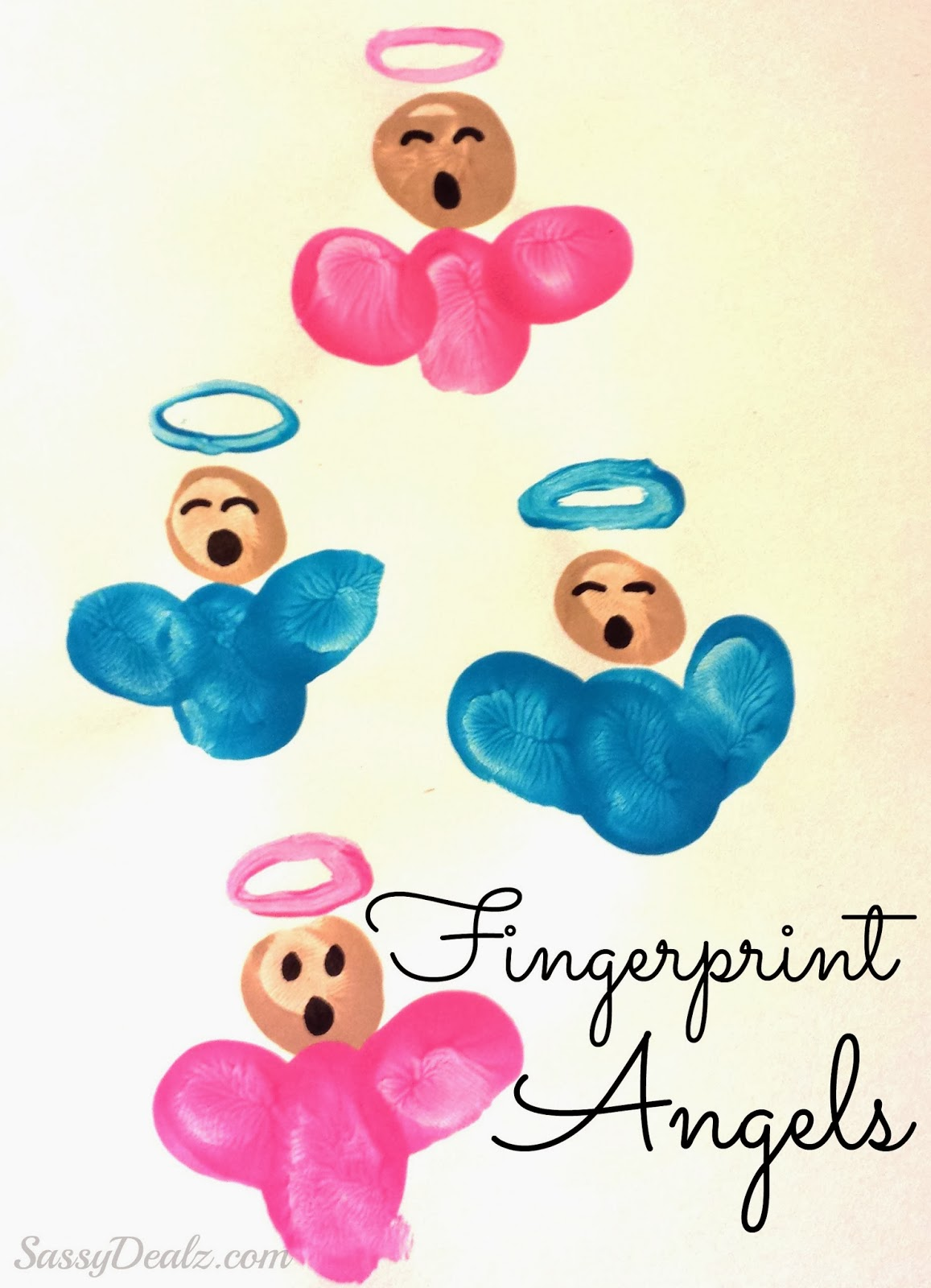 Finger Print Angel Art by Crafty Morning