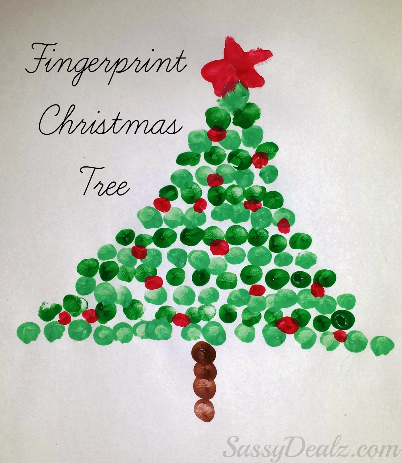 Arts And Craft Ideas For Christmas Part - 44: Fingerprint Christmas Tree Art