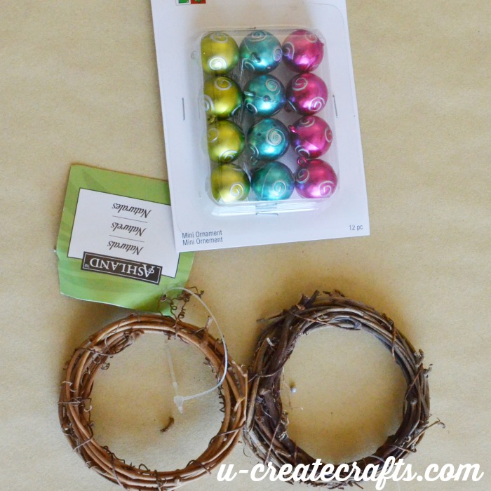 Mini Ornament Tutorial Supplies