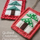 Quilted Christmas Tree Ornament by Diary of a Quilter