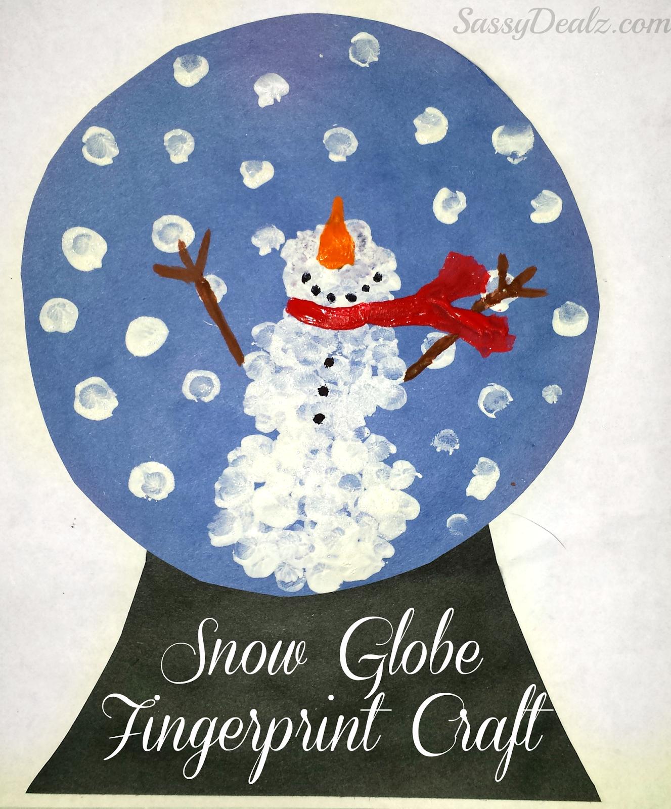 Snow Globe Fingerprint Craft