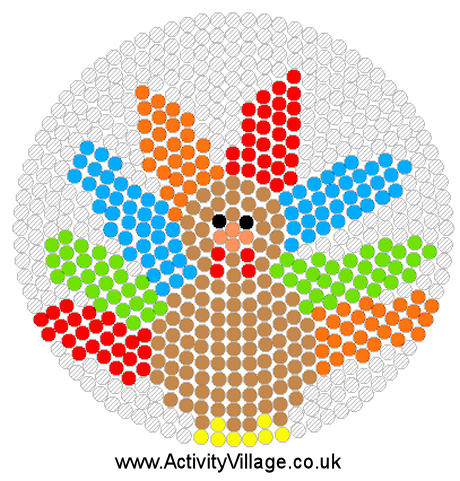 Turkey Perler Bead Pattern