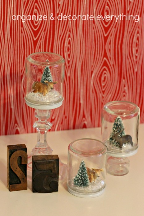 Waterless Snow Globe Tutorial by Organize and Decorate Everything