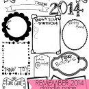 2014 Year in Review Doodle Page by U Create