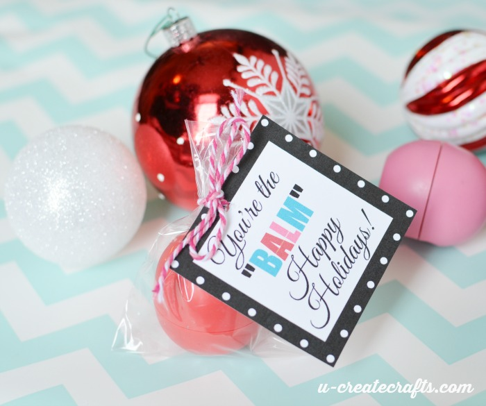 "Free Printable Christmas gift tags - You're the ""BALM"" by U Create"