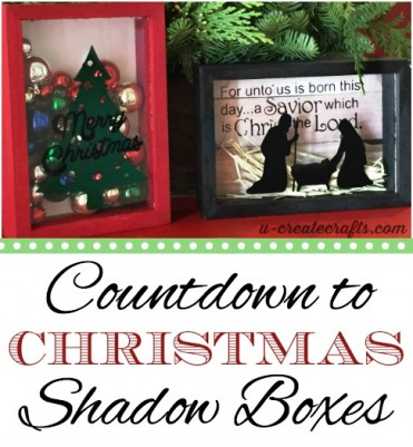 Christmas Shadow Boxes at u-createcrafts.com
