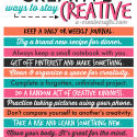 Creative Ways to Stay Creative by u-createcrafts.com