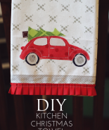 Kitchen Christmas Towel Tutorial