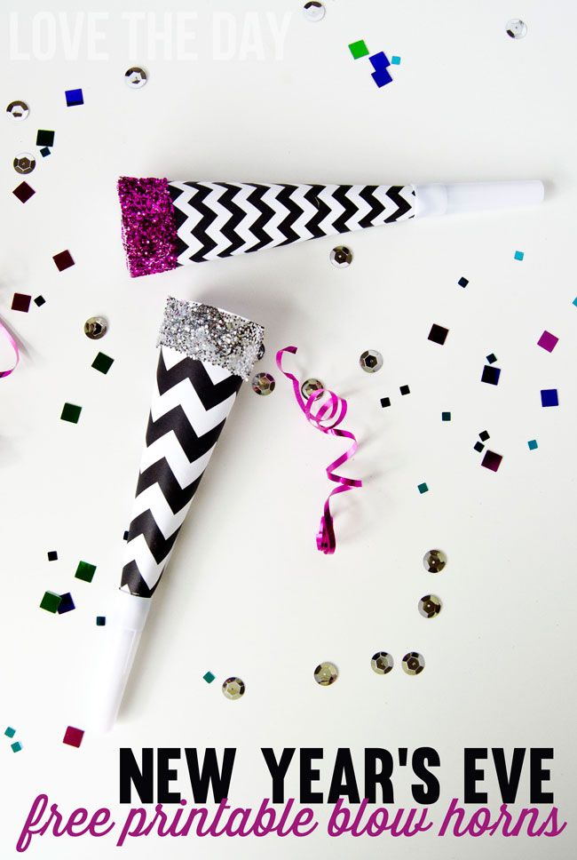 DIY Party Horns by Love the Day