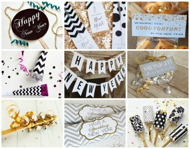New Years Party Printables and Tutorials at U Create