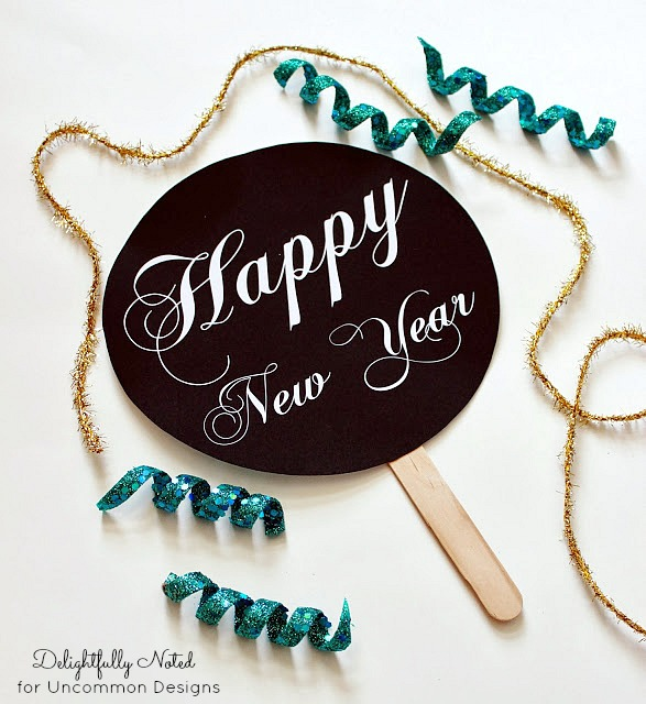 New Years Photo Props by Uncommon  Designs