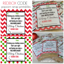 Redbox Code Popcorn Printables - gift idea for Christmas! u-createcrafts.com