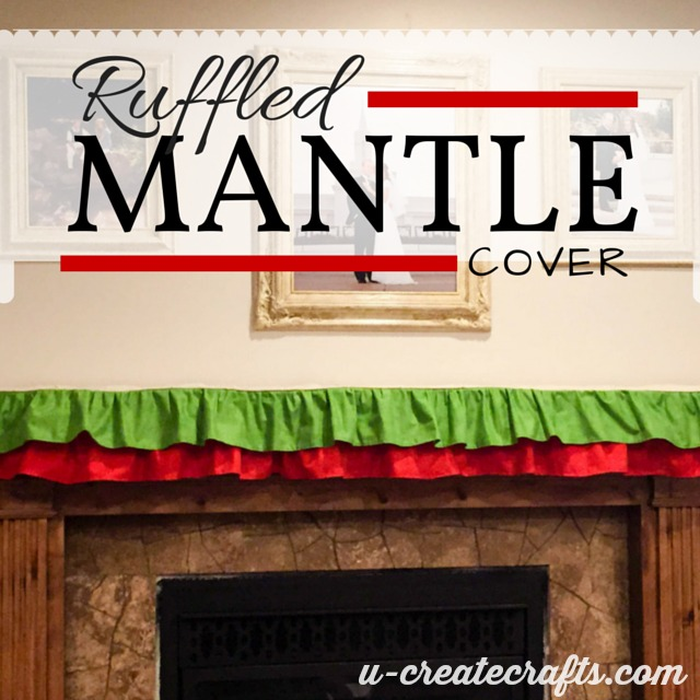 Ruffled Mantle Cover at U-createcrafts.com