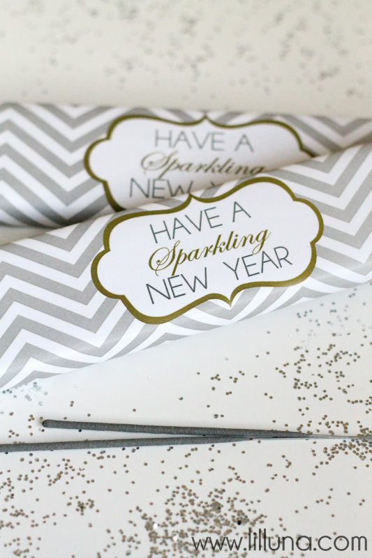 Free Printable Sparkler Wraps by Lil Luna