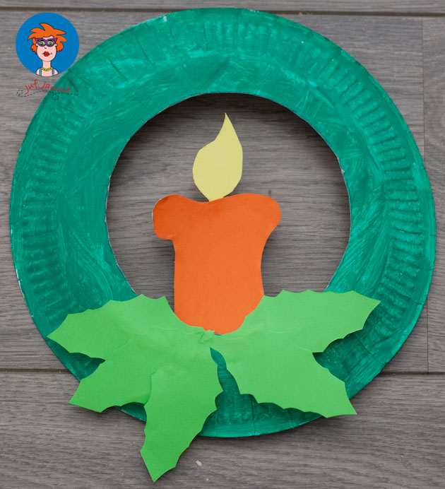 Christmas Candle Paper Plates & Paper Plate Christmas Crafts - U Create