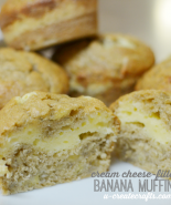 Cream Cheese-Filled Banana Muffins