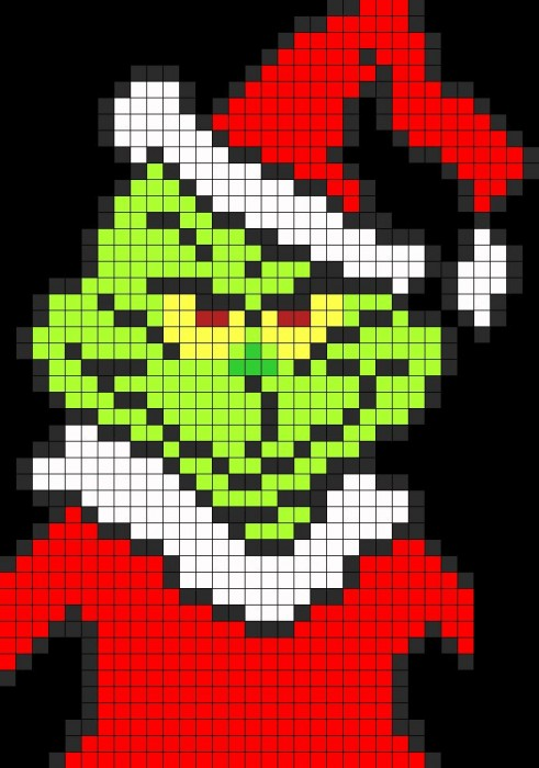 Grinch Perler Bead Pattern