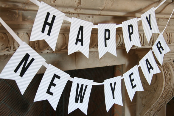 Happy New Year Banner by Tom Kat Studio