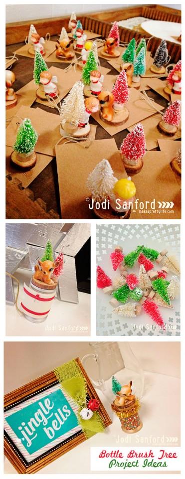 Holiday Decor with Mini Bottle Brushes by Jodi Sanford