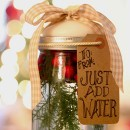 Christmas Mason Jar Candle Tutorial by Design Dazzle