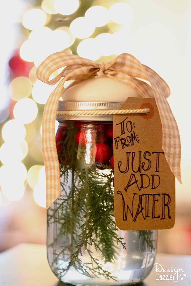 Christmas mason jar candle tutorial u create for Mason jar candle crafts
