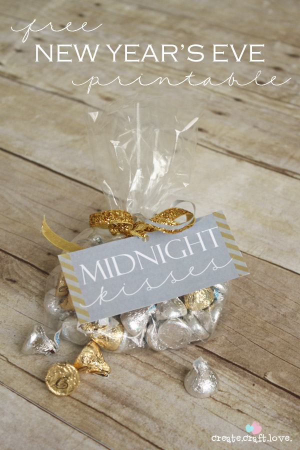 Midnight Kisses Printable by Create Craft Love