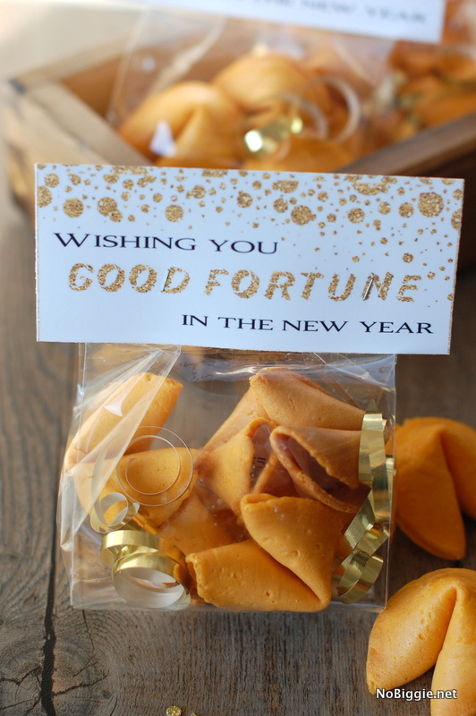 New Years Fortune Cookie Bag Toppers by No Biggie