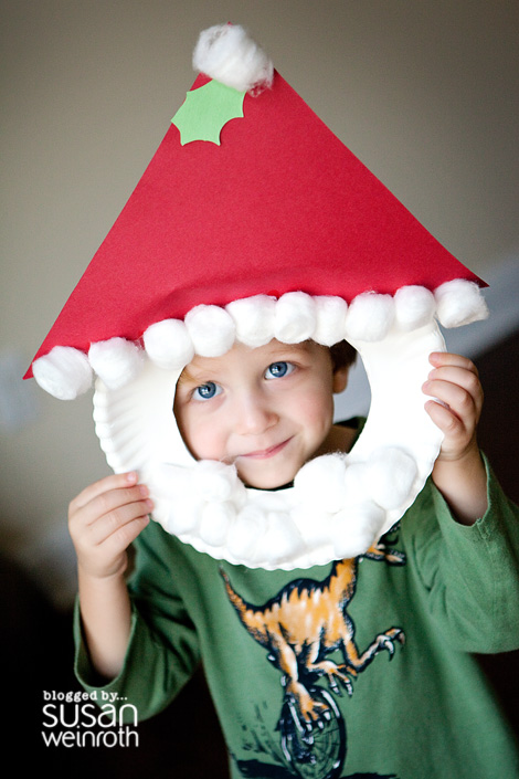 paper plate christmas crafts u create On santa faces for crafts