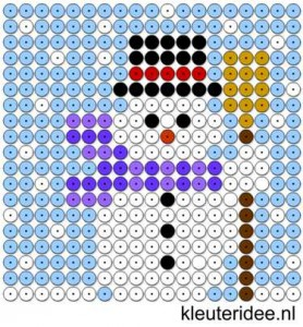 Snowman Perler Bead Pattern
