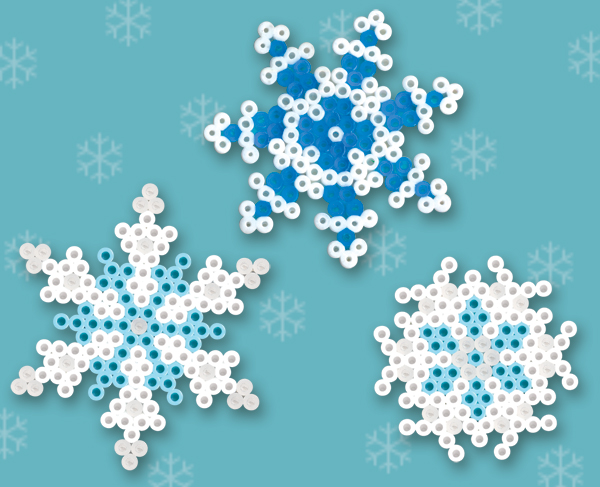 Winter Snowflakes Perler Bead Patterns