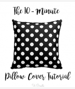 The 10 Minute Throw Pillow Cover