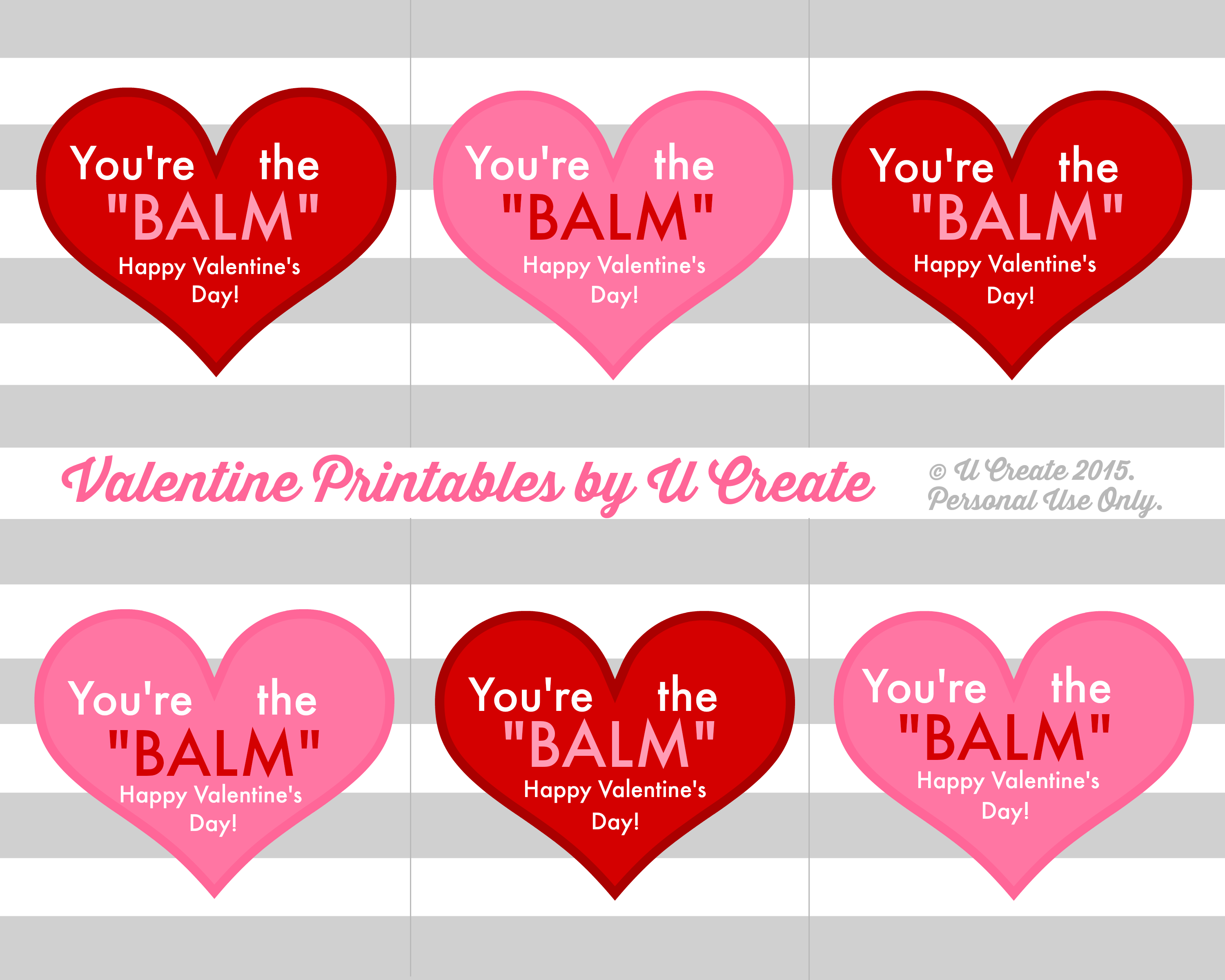 graphic relating to Printable Valentine Picture known as Valentine Lip Balm Printables - U Build