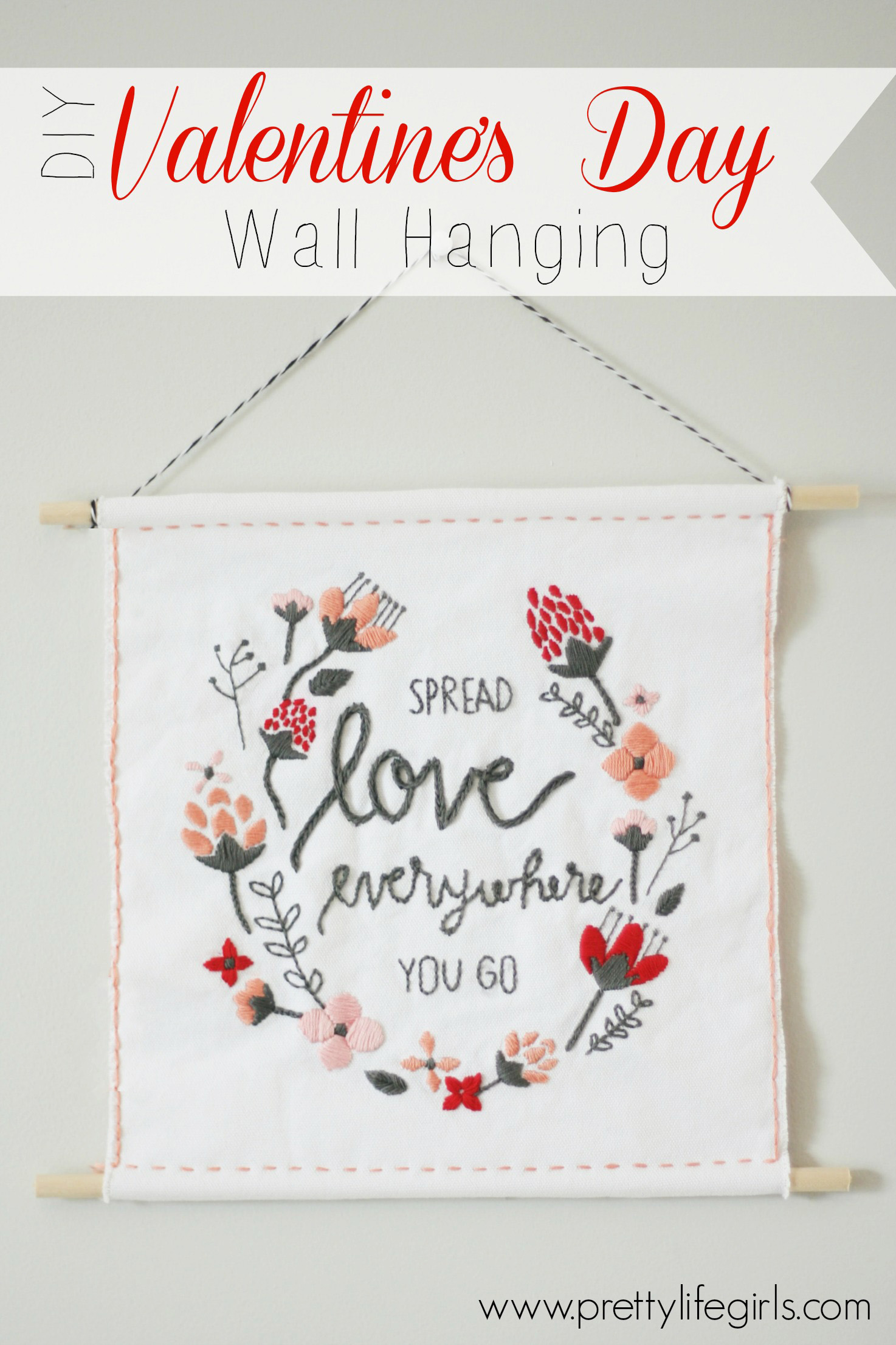 DIY Valentine Wall Hanging