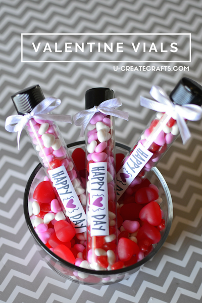 Valentine Candy Vials And Free Printable