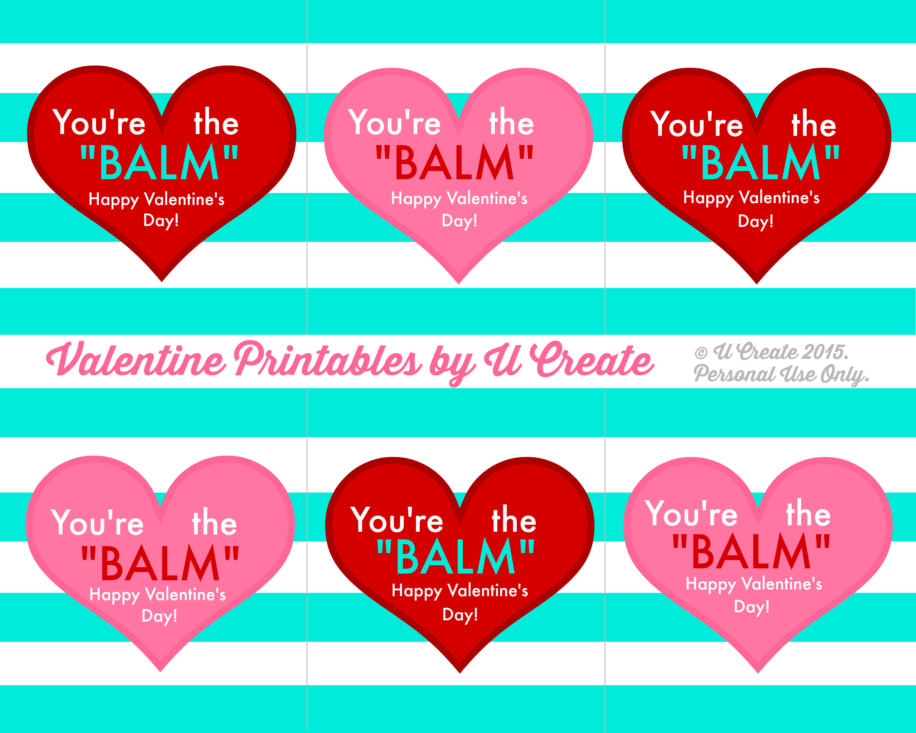 photograph about Valentine Template Printable known as Valentine Lip Balm Printables - U Acquire