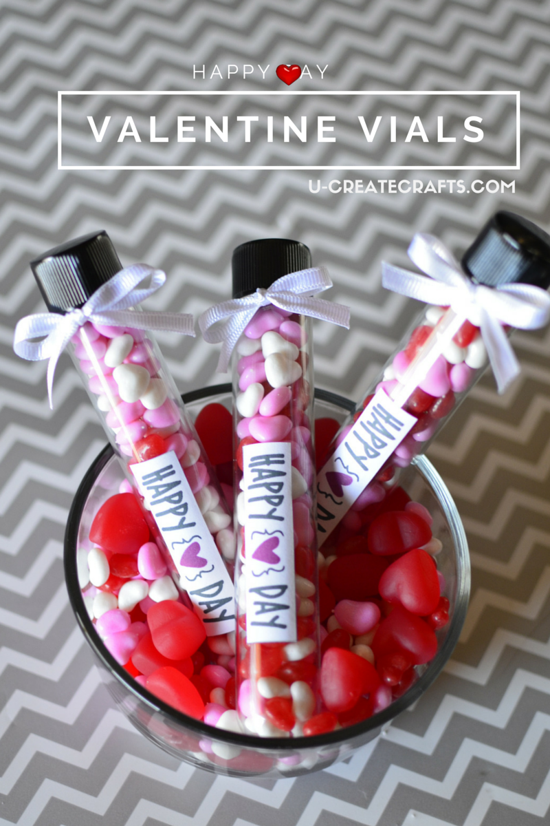 Valentine Treats with Vials