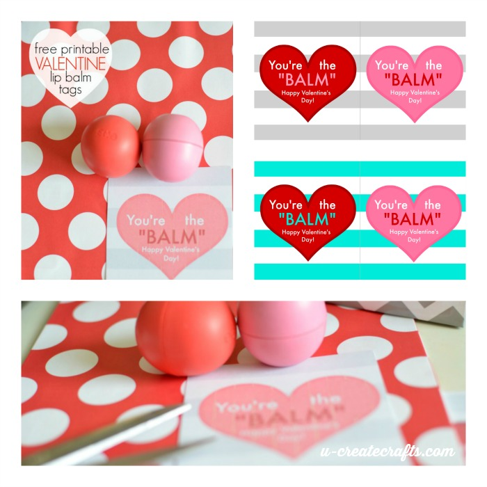 Valentine Lip Balm Printable Tags by U Create